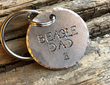 Dog Mom - Dog Dad Keychain