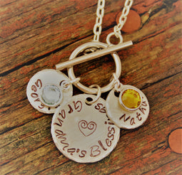 Personalized Grandma Necklace,Necklace for Grandma, Mother's Day Gift for Mom, Gift for Grandma, Easy Clasp