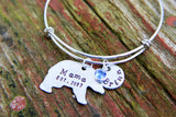 Hand Stamped Mama Bear Bracelet-Custom Bangle-Mama Bear-Mom Bracelet-Personalized Mother's Bracelet-Gift for Mom-Mother's Day Gift for Mom