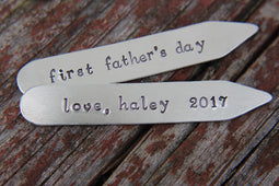 Daddy Collar Stays | First Fathers Day Gift | Custom Collar Stiffeners