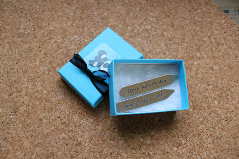 dad gift custom collar stays fathers day gift brass collar stays gift ideas for dad gifts for daddy