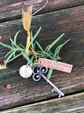 New Home Christmas Ornament - First Christmas Key Ornament - House Warmng Gift - Key Christmas Ornament