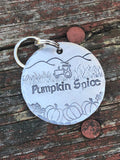 Dog Tag for Dogs - Dog ID Tag - Pumpkin Spice - Dog Tag for Fall - Dog Tag with Pumpkins - Farm Dog Tag