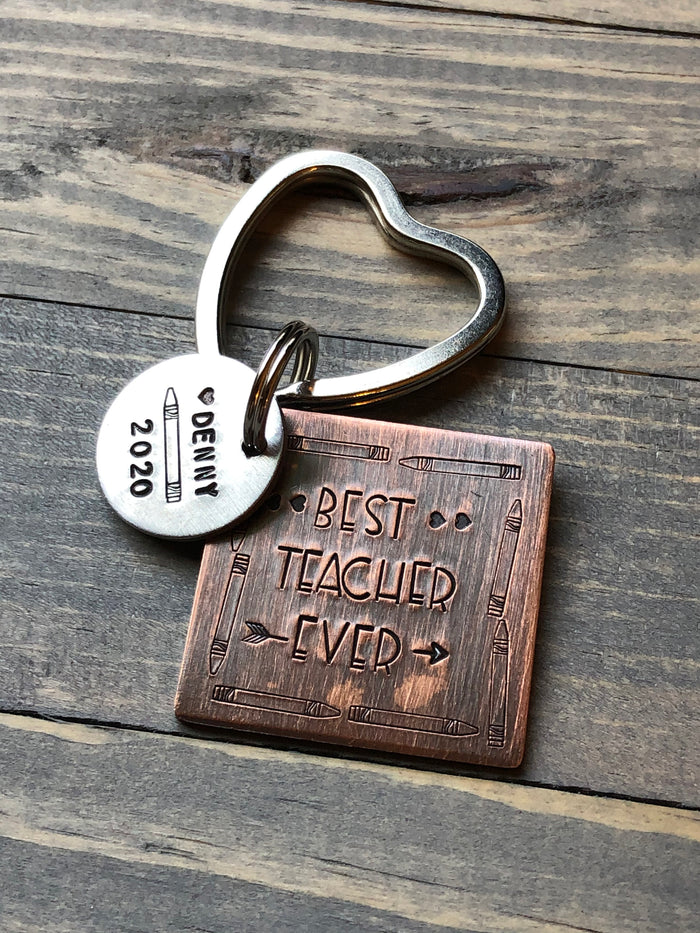 Gift for Teacher, Teacher Gift, Teacher Keychain, teacher gift under 20, best teacher ever, preschool teacher gift, end of school gift