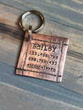 Custom Dog Tag, Hand Stamped Pet ID, Personalized Dog Tag for Dog, Basic Dog Tag with Chain Links, Retro Tag