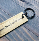 Father's Day Gift for Dad, Birthday Gift for Dad, Keychain for Dad, Tape Measurer, Dad can fix it, Ruler, Loved Beyond Measure, Papa Gift