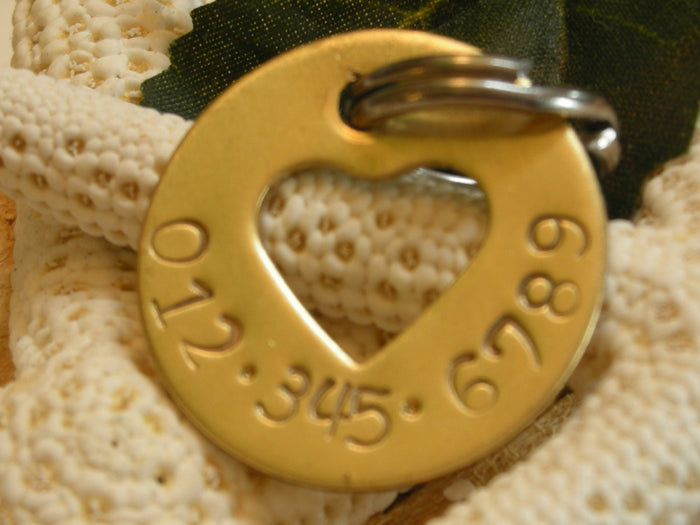 NuGold Handstamped Pet ID Tag - Hole Lotta Love