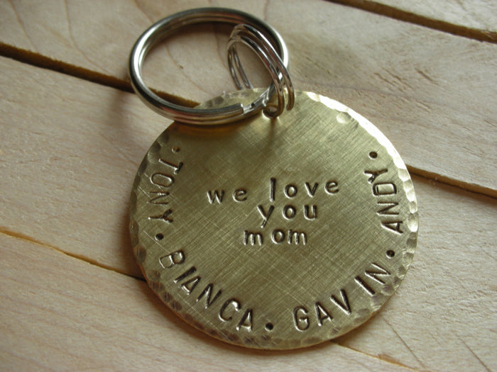 Mom Keychain-Mothers Day Gift- Personalized Keychain or Purse Charm-New Mother-Mother In Law-Mommy Gift