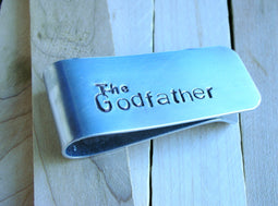 Money Clip -The Godfather-Perfect Gift for Godfather-godparent-Men's Personalized Money Clip-Groomsmen Gift-Moneyclip for Dad