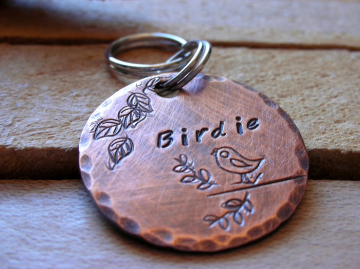 Custom Dog Tag- Pet ID Tag- Cat ID Tag - Little Birdie