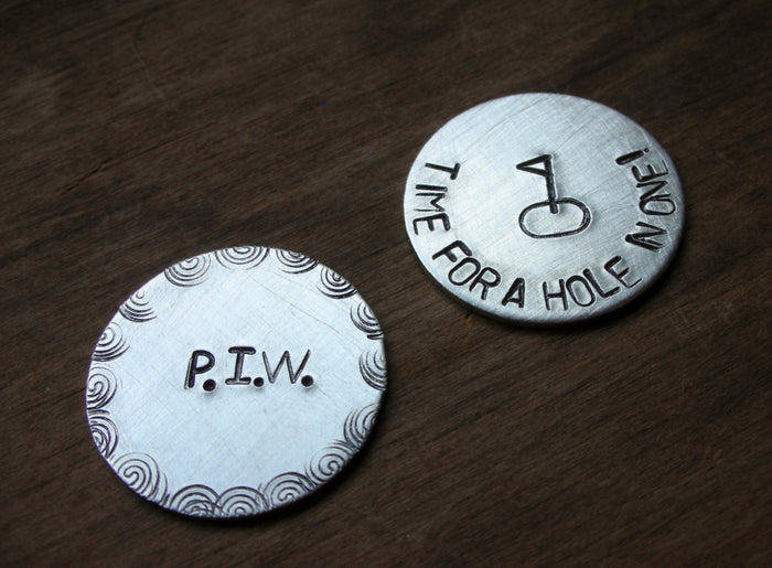 Personalized Golf Ball Markers-Gift for Father's Day-Dad Gift-Boyfriend Gift-Golfer Gift-Groomsmen Gift