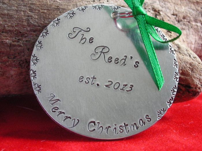 Our Family Christmas Ornament- Our First Christmas Ornament-Family Established Ornament- First Christmas Ornament