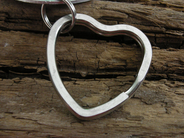 Stainless Steel Heart Shaped Keyring-Upgrade Keyring-Large Heart Keyring