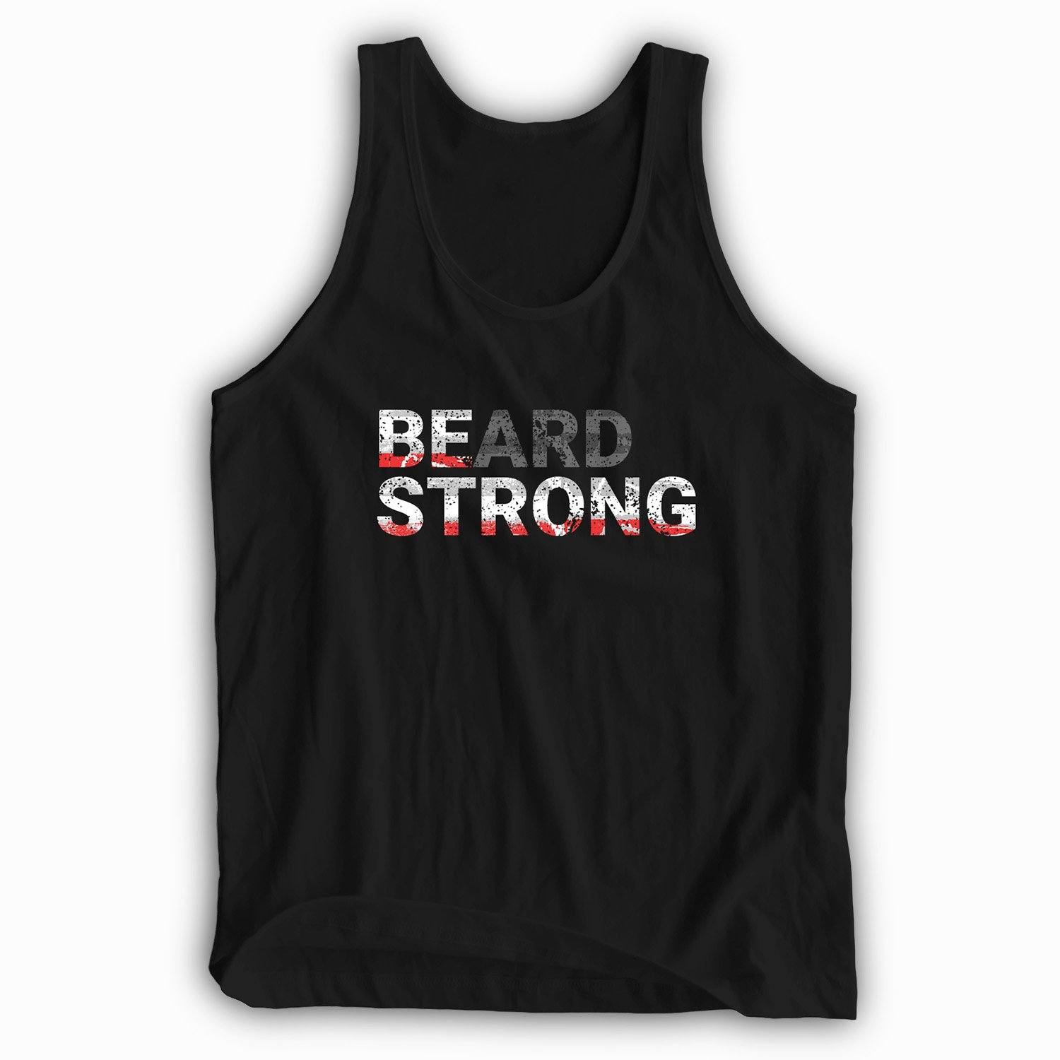 Beard Strong Tank Top - Red