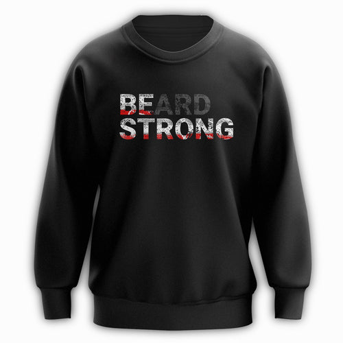 Beard Strong Sweatshirt - Red