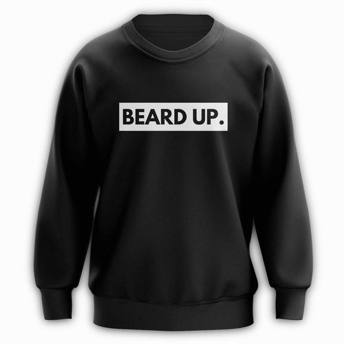 Beard Up Crewneck - B&W