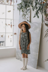 Organic Cotton Sleeveless Dress - Emme Floral