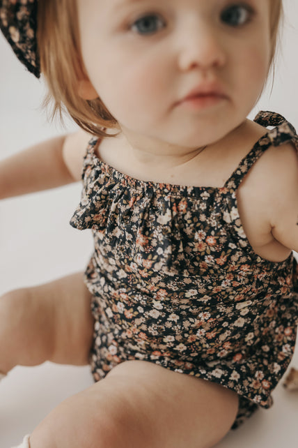 Organic Cotton Luna Playsuit - Luca Floral