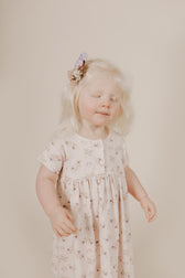 Organic Cotton Short Sleeve Dress - Sweet Pea Floral