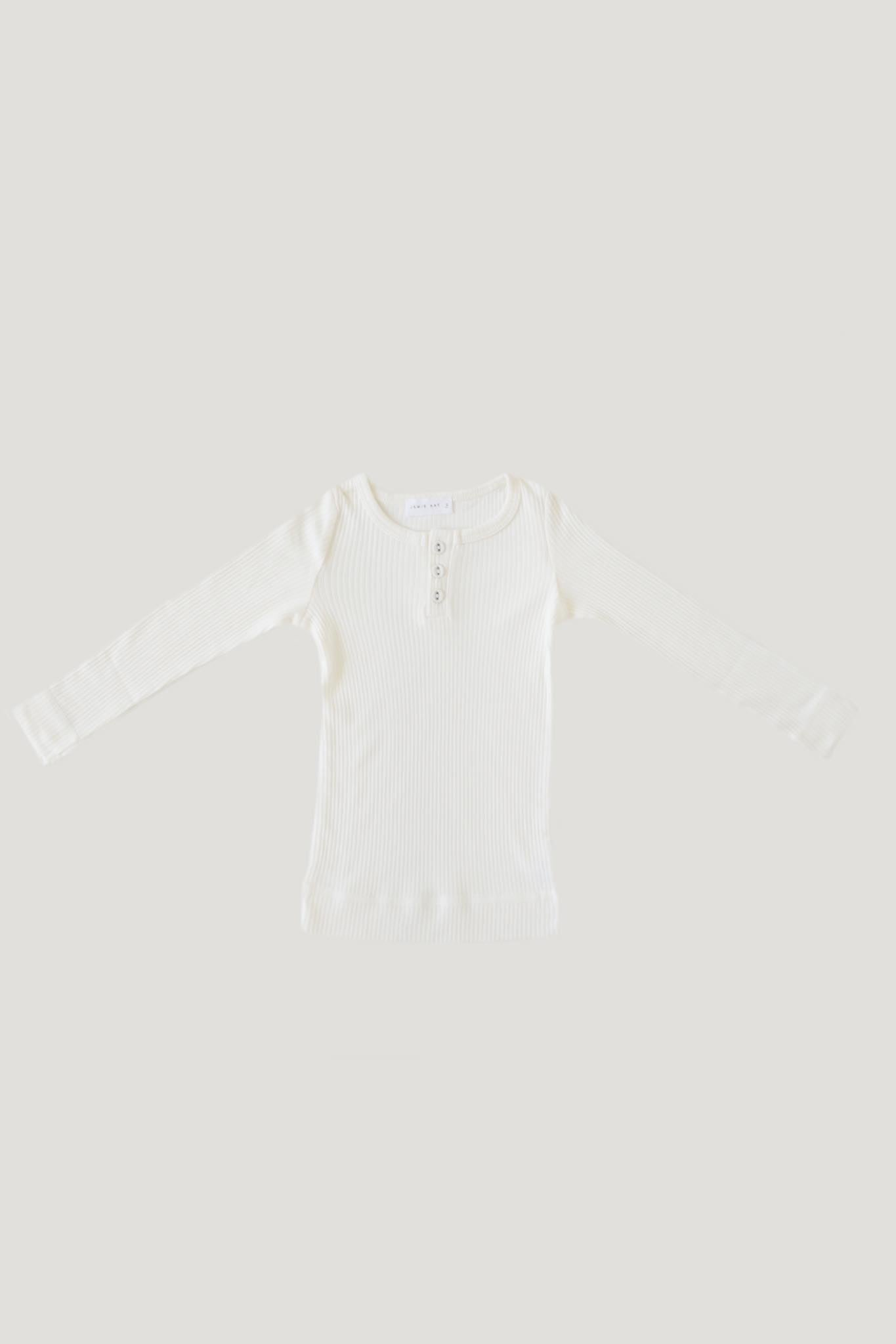 Original Cotton Modal Henley - Milk
