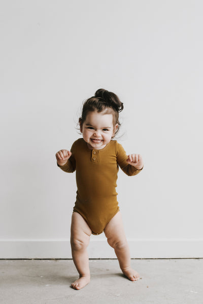 Cotton Modal Essentials Bodysuit - Golden
