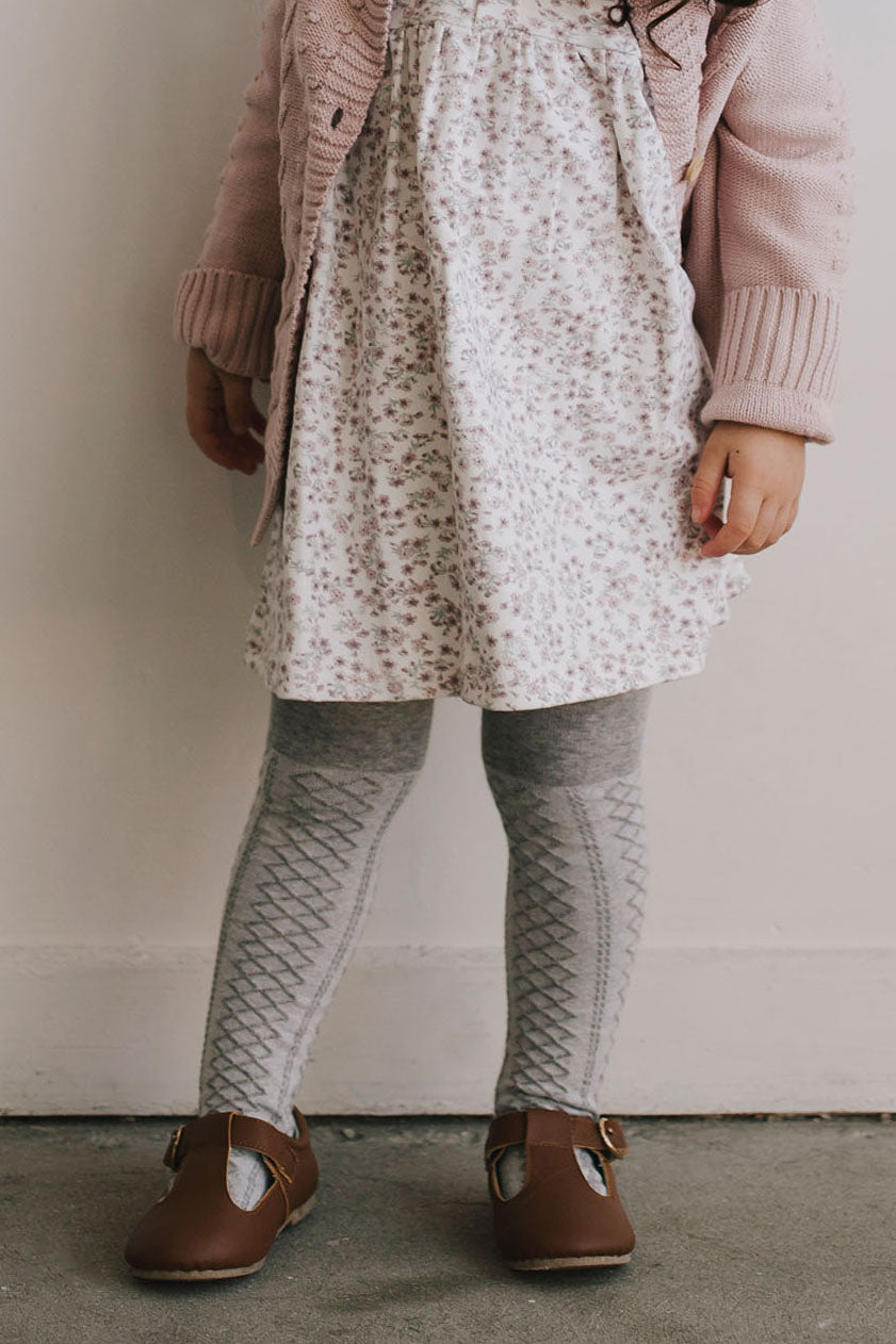 Vintage Lace Tights - Grey