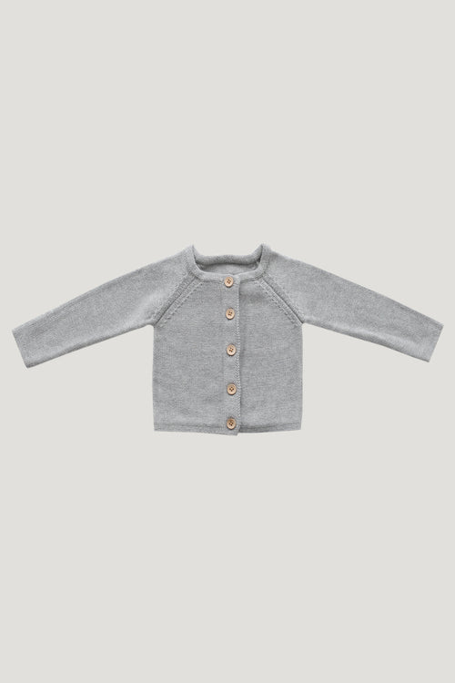 Simple Cardigan - Lightest Grey Marle