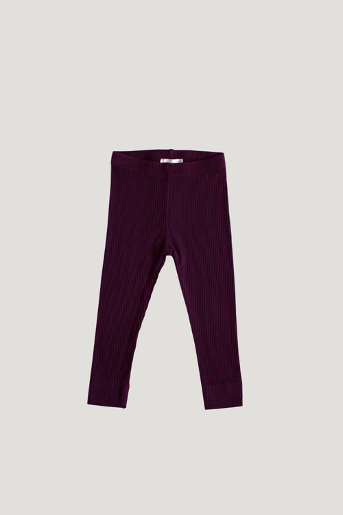 Cotton Modal Legging - Mulberry
