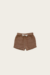 Organic Cotton Muslin Lily Short - Camel