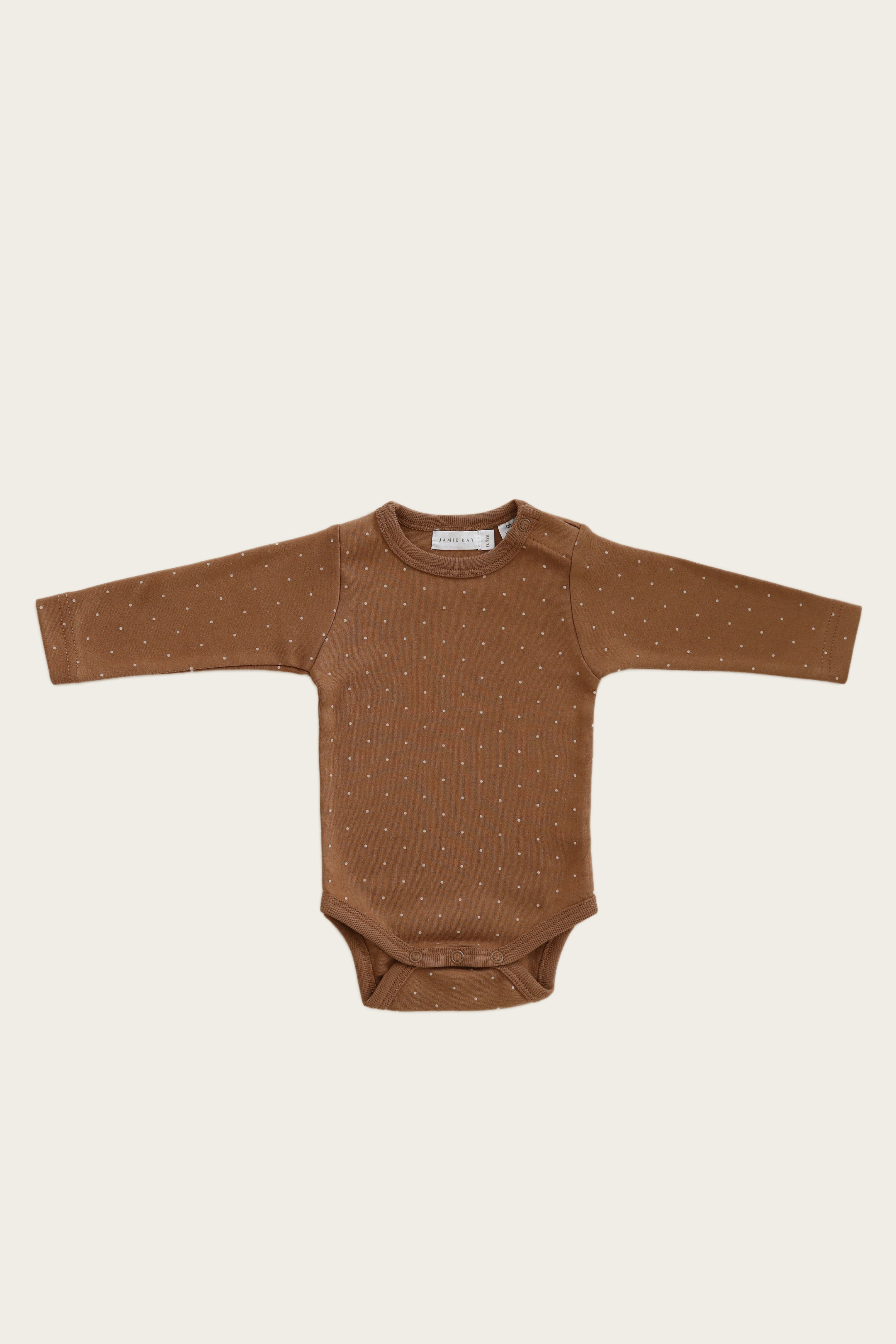 Organic Cotton Longsleeve Bodysuit - Tiny Dots