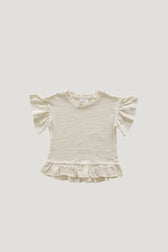 Slub Cotton Eden Top - Cloud