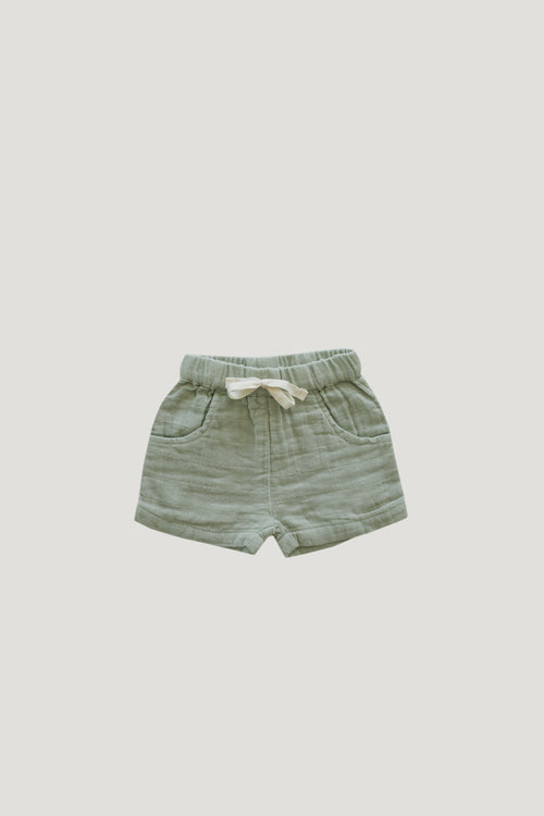Organic Cotton Muslin Lily Short - Sage