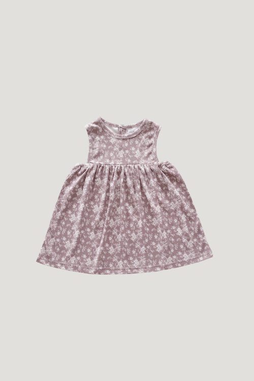 Organic Cotton Sleeveless Dress - Fawn Floral