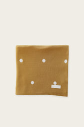 Polka Dot Cot Blanket - Gold