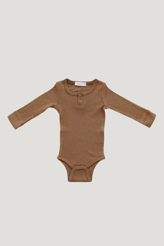 Cotton Modal Bodysuit - Light Grey Marle
