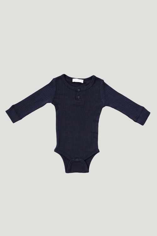 Cotton Modal Bodysuit - Dark Grey
