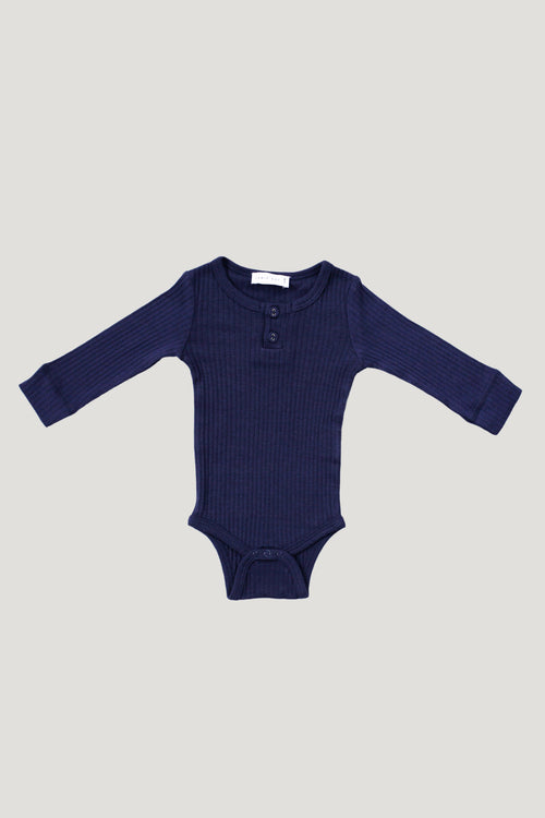 Cotton Bodysuit - Navy