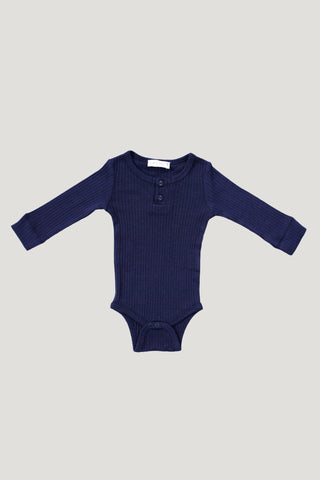 Cotton Modal Henley - Mulberry