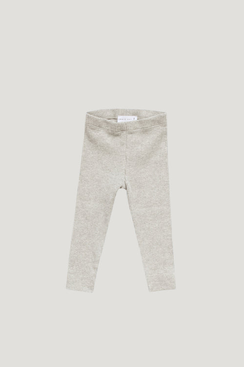 Cotton Modal Legging - Oatmeal Marle
