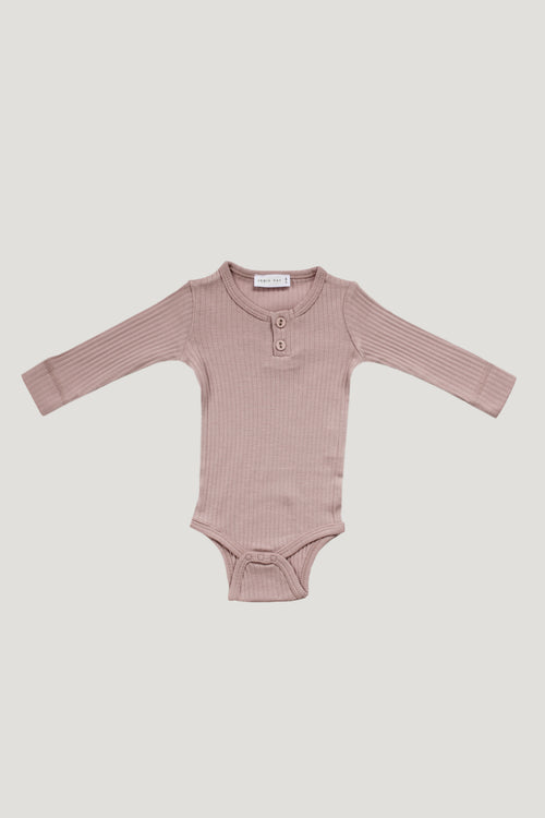 Cotton Bodysuit - Rosy