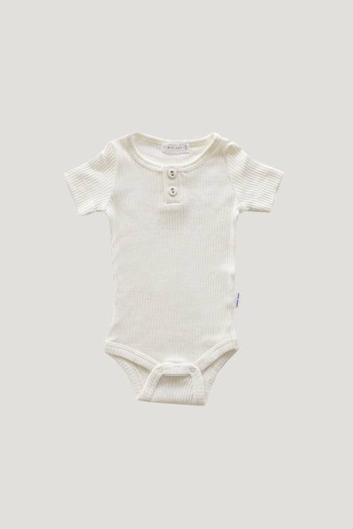 Original Cotton Modal Short Sleeve Tee Bodysuit - Milk