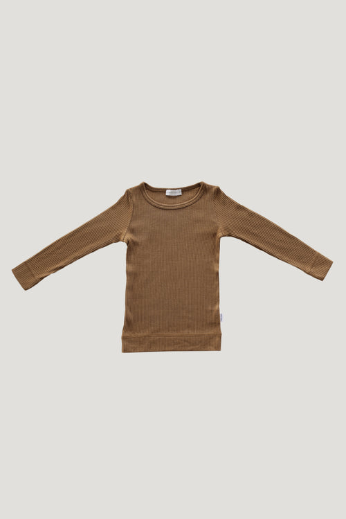 Original Cotton Modal Essential Top - Bronze