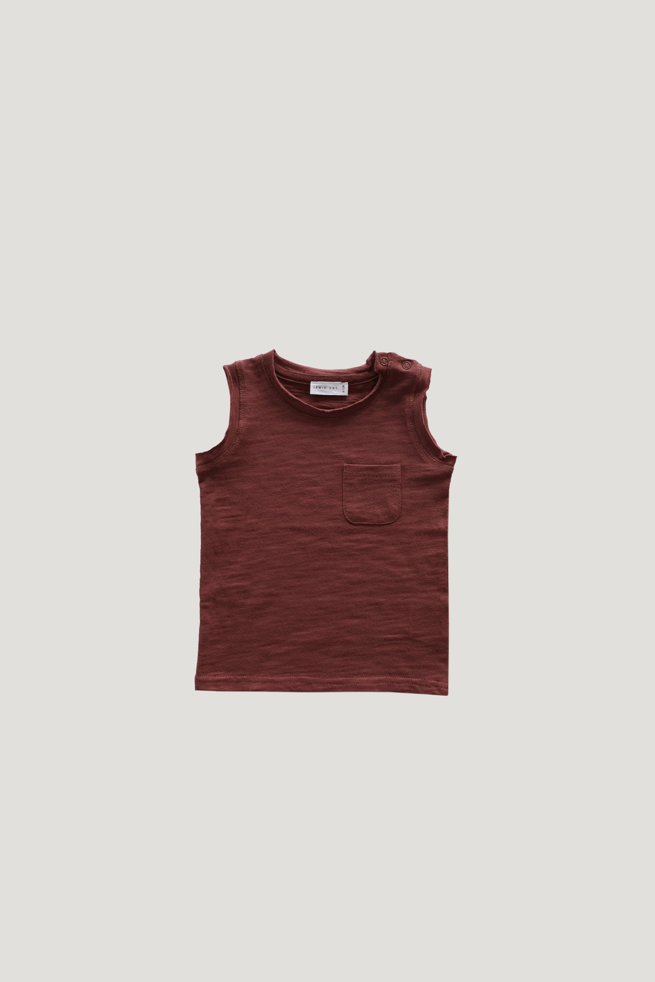 Slub Cotton River Tank - Clay