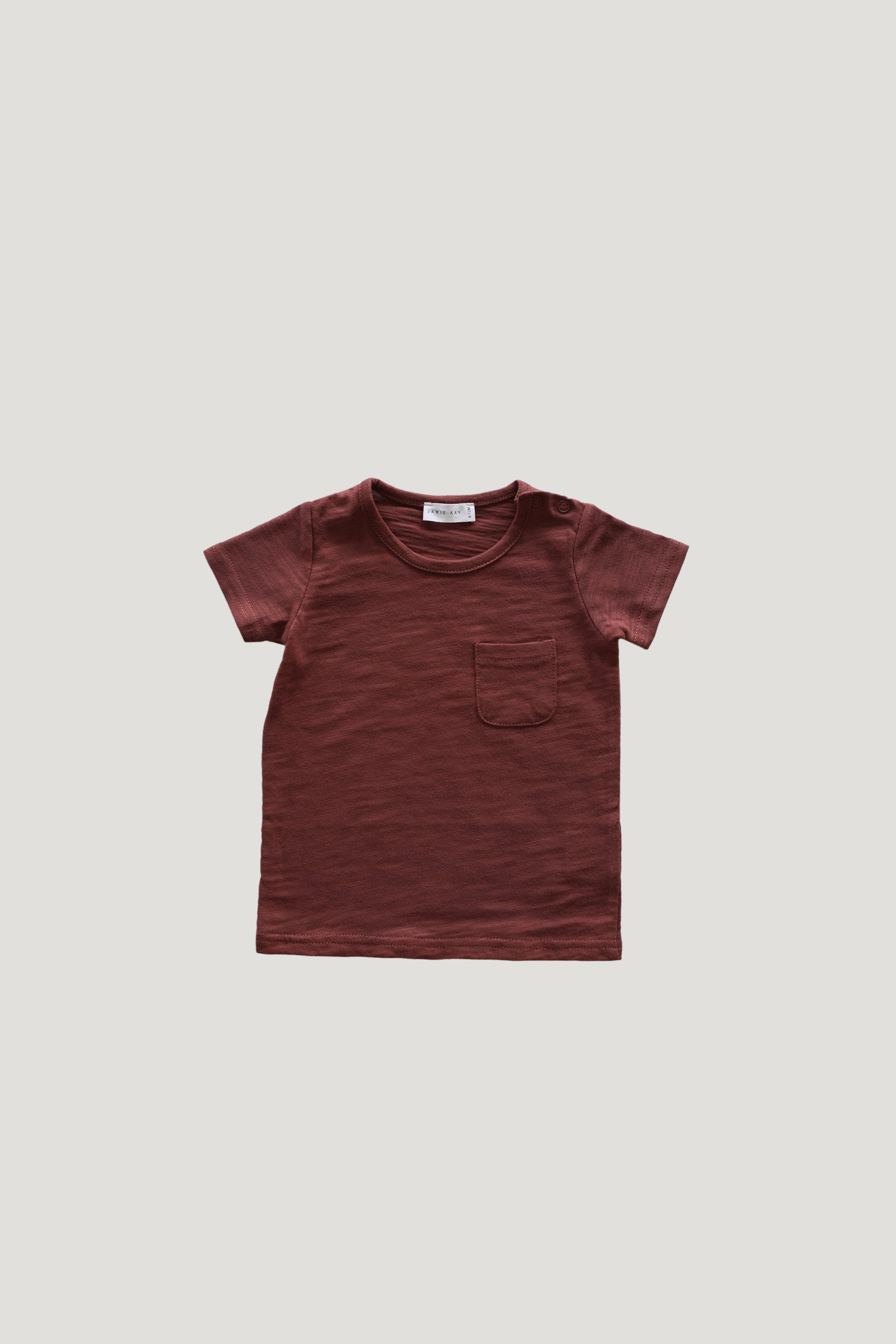 Slub Cotton Sam Tee - Clay