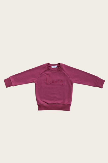 Flora Sweatshirt - Grape Juice