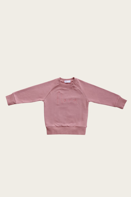 Flora Sweatshirt - Strawberry