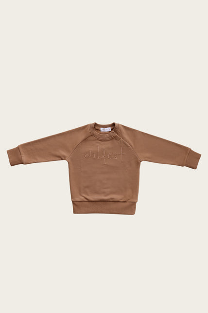 Wildest Sweatshirt - Caramel