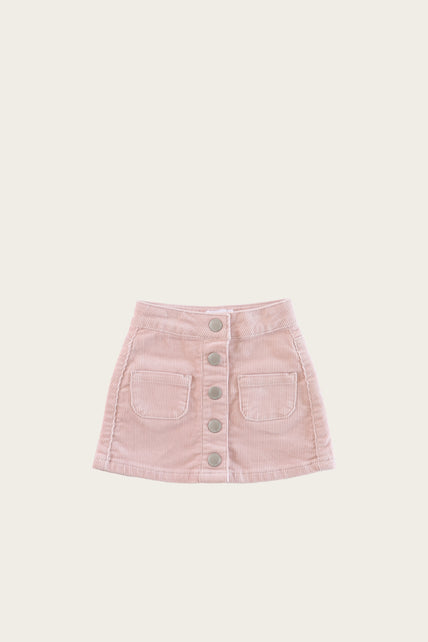 Ava Cord Skirt - Old Rose