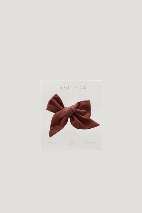 Nova Cotton Bow - Clay