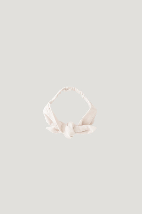 Organic Cotton Muslin Headband - Coconut